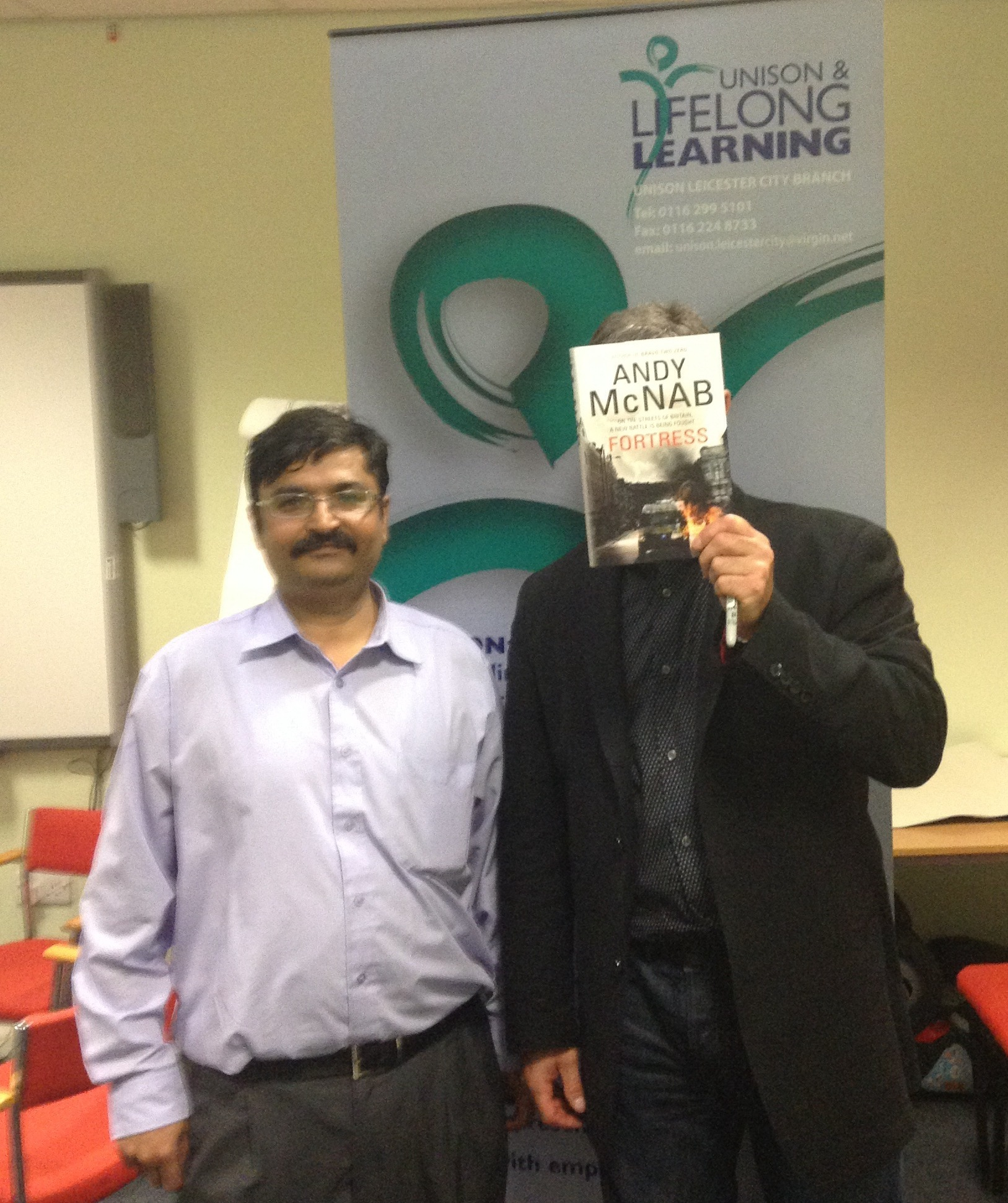 andy mcnab visits leicester and swindon to champion the
