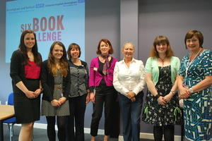 Library staff at BSMHFT and University Hospitals Birmingham with Martina Cole