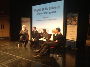 Panel discussion at Digital Skills Sharing Showcase