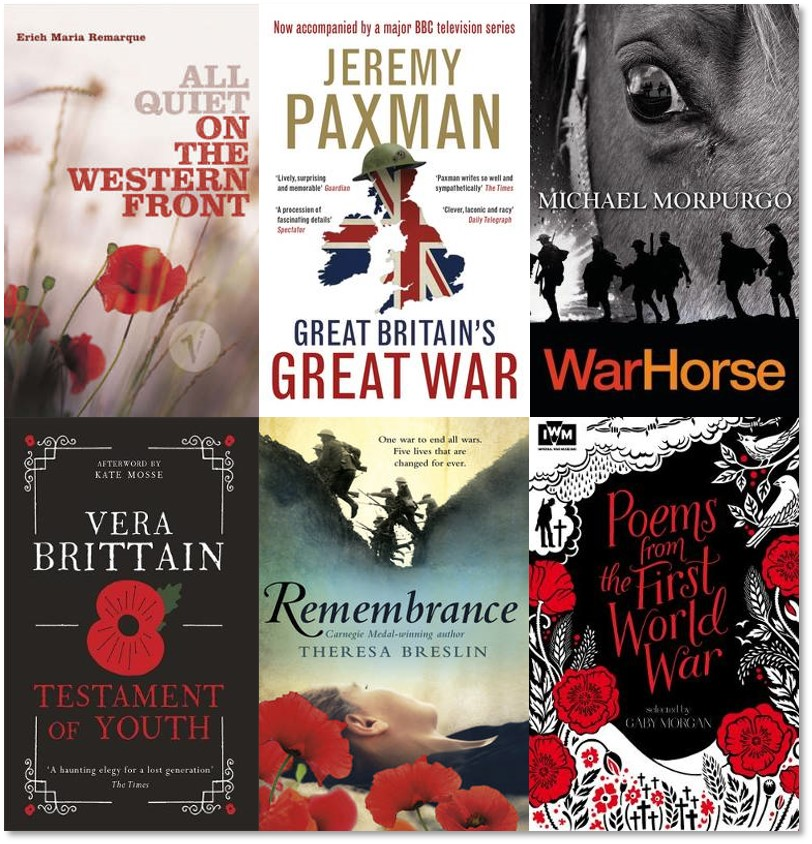Remembrance Day 2018 The Reading Agency S Book Recommendations