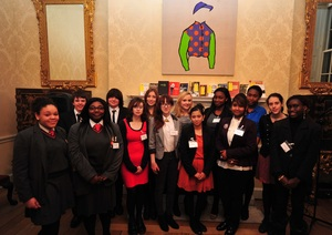 Young people inside no 11 downing street