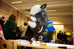 Ronnie the Rhino signing up