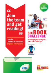 Six Book Challenge 2013 Rugby poster
