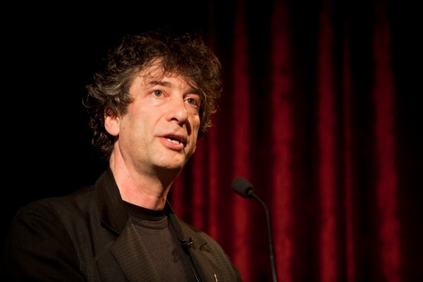Neil Gaiman giving lecture compressed.jpg
