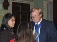 Social reporters with the Lord Mayor